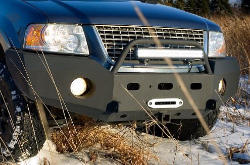 Used Nissan Xterra >> Front Winch Bumper Ford Expedition (03-06): BlueLakeOffroad