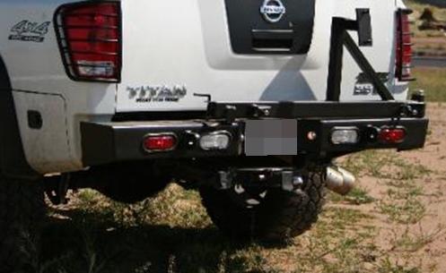 Rear Multicarrier Bumper For Nissan Titan 04 15 And Armada 04 11