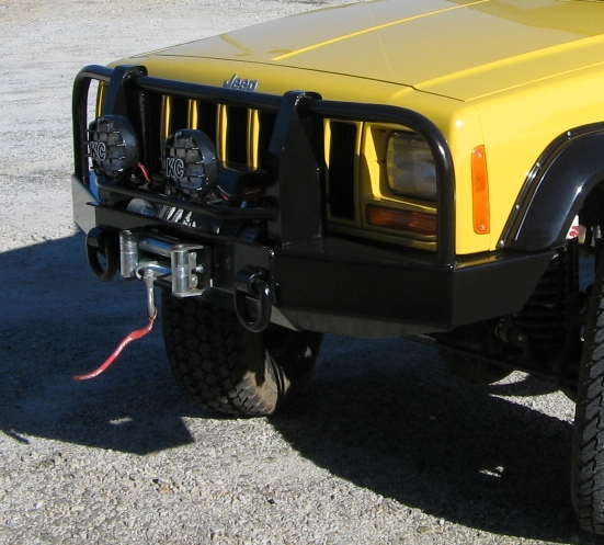 Front Winch Bumper For 86 96 Amp 97 01 Jeep Cherokee Xj
