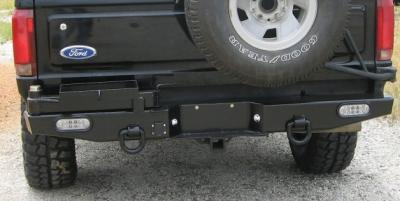 Rear Multicarrier bumper F150, Bronco (72-96) and Super Duty (72-98) tapered